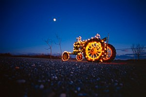 Tractor In Lights