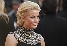 Actress Julianne Hough arrives at the 68th annual Golden Globes Awards in Beverly Hills