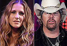 Emily Robison and Toby Keith