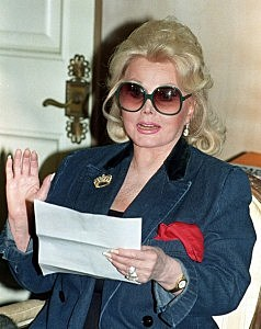 Zsa Zsa Gabor at her home in Beverly Hills