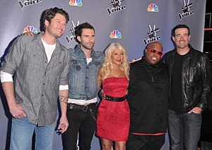 "The judges from ""the Voice"""