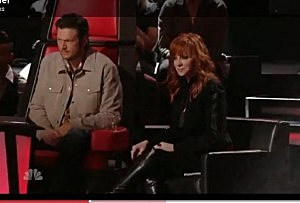 Blake and Reba the voice