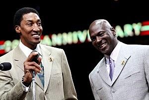 Scottie Pippen and Michael Jordan