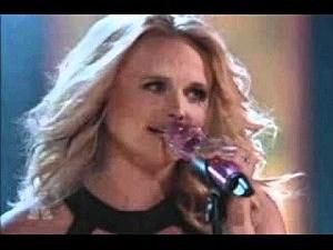 Miranda Lambert performing on The voice