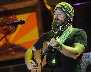 Zac Brown playing guitar