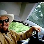Toby Keith driving a truck