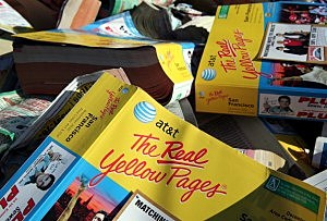 phone book pile