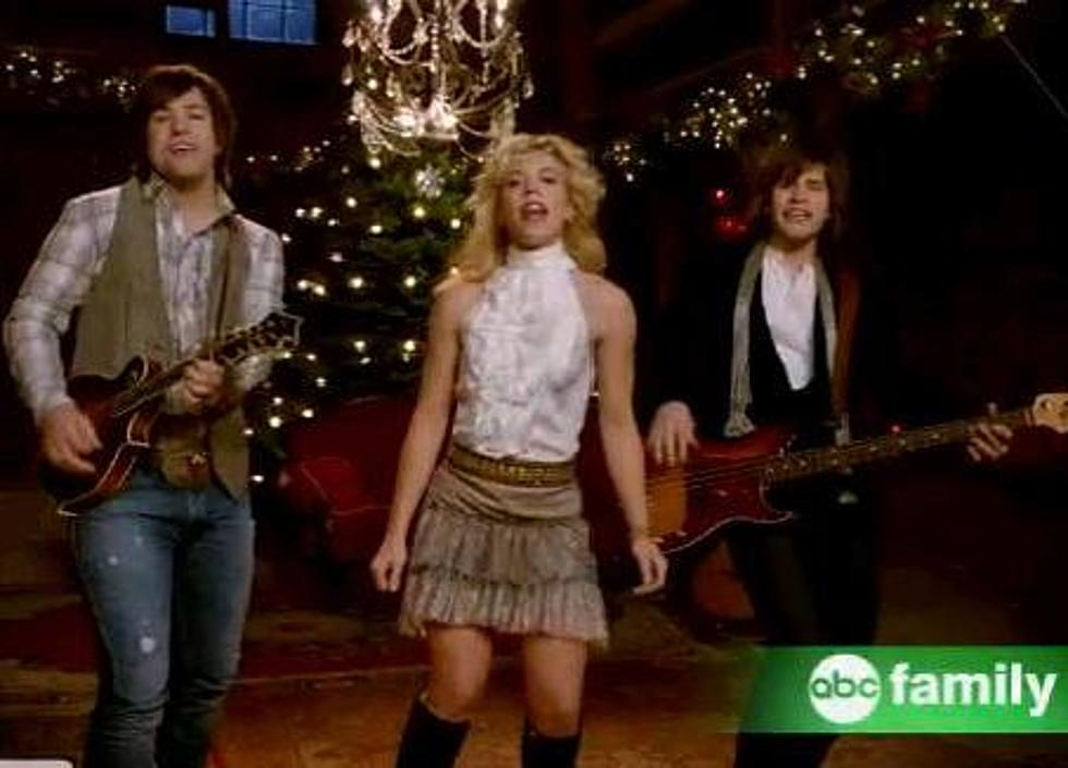 the band perry records 25 days of christmas for the family channel video