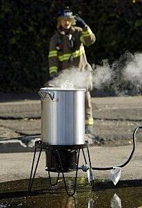Fire Department Demonstrates The Dangers Of Deep-Frying Turkeys