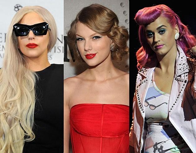 Lady Gaga - Taylor Swift - Katy Perry