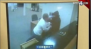 Clerk punching would be thief