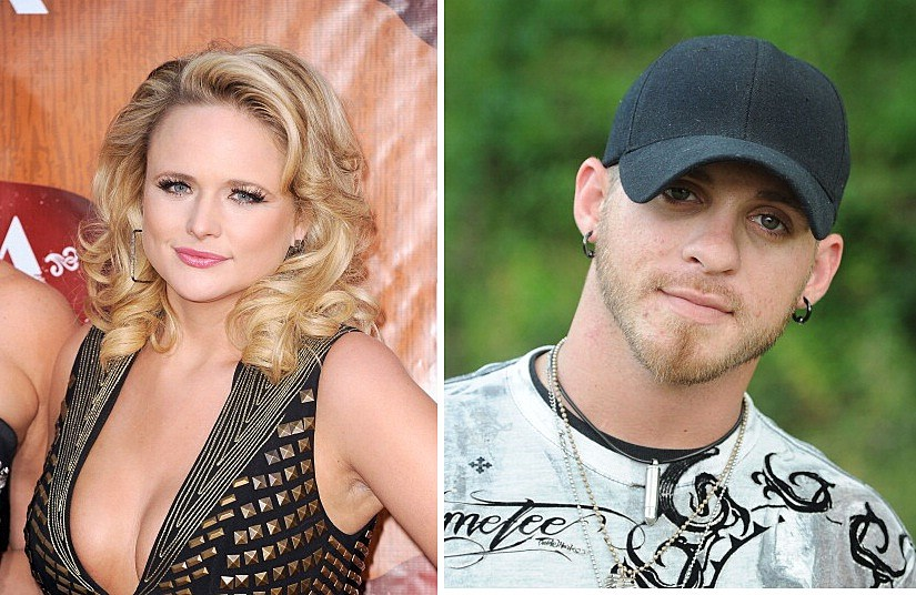 Miranda Lambert left Brantley Gilbert right