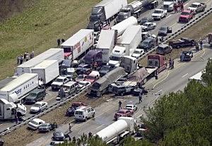 More than 100 Vehicles Crash in Georgia Fog, 5 Dead