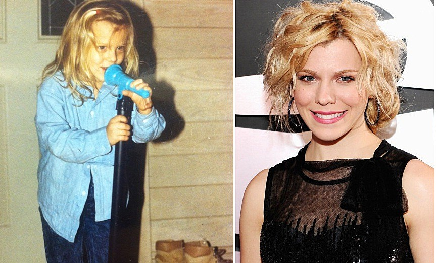 5 year old Kimberly Perry next to Kimberly Perry today