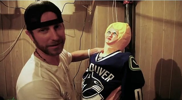 Dierks Bentley with a blowup doll