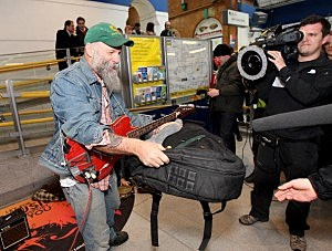 Seasick Steve Performs At Earls Court Tube Station