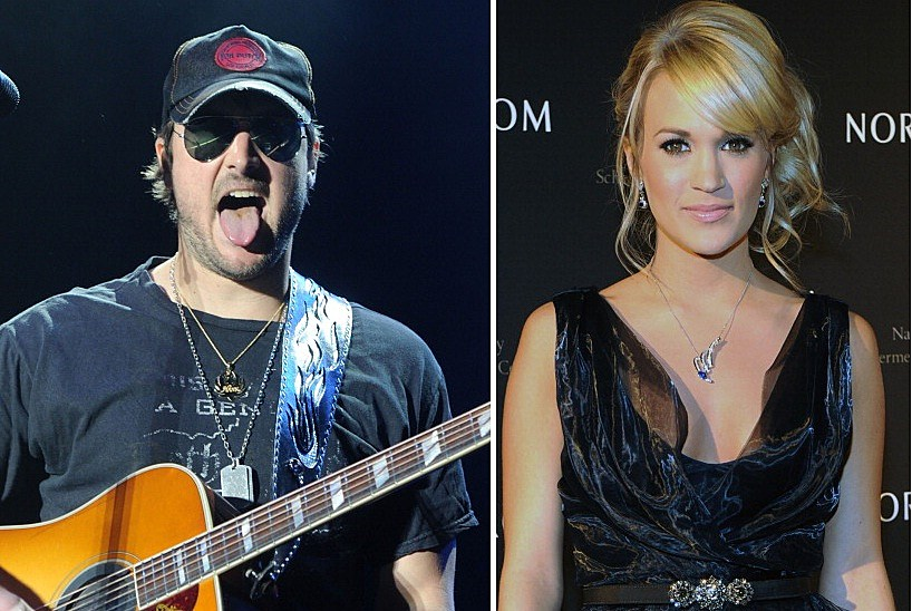 Eric Church (Left) Carrie Underwood (Right)