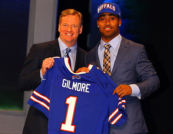 Stephon Gilmore and Roger Goodell