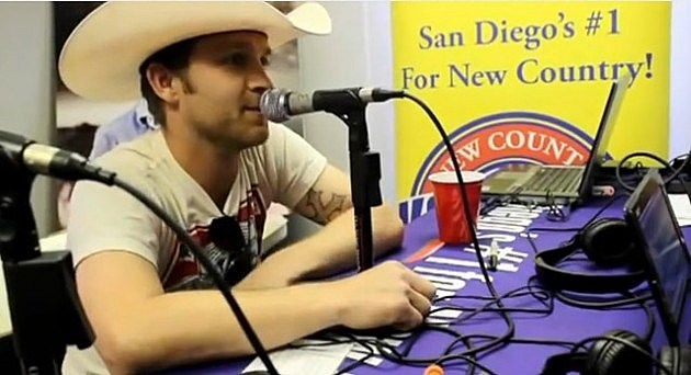 Justin Moore doing an interview