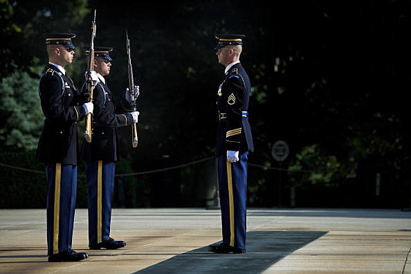 Third Infantry At The Tomb Of The Unknown Soldier