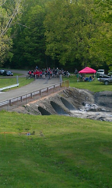 The start finish line at Sprague Brook (Clay Moden)
