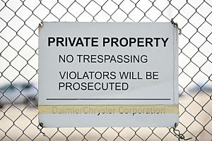Trespassers can be a big annoyance