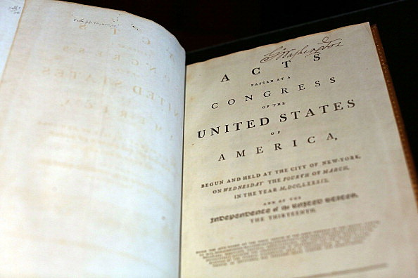 Constitution Once Owned By George Washington (Getty Images)