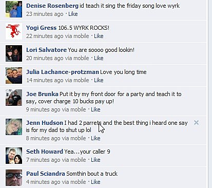 WYRK listeners respond on Facebook