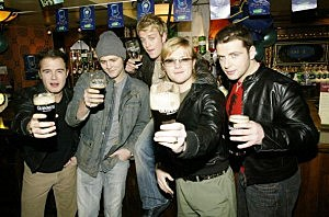 Westlife celebrate St Patrick's Day at O'Neills in London