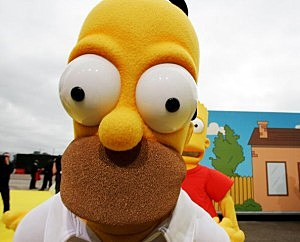 The Simpsons Movie - UK film premiere - Red Carpet