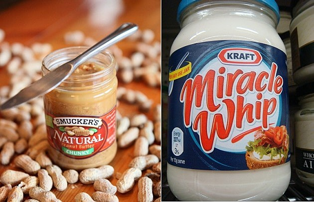 Peanut butter and Miracle Whip