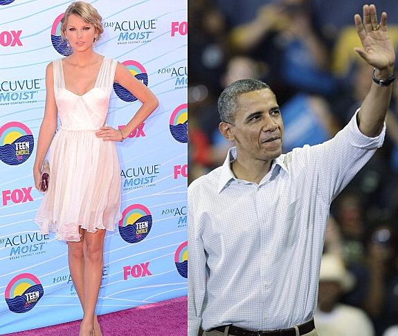T Swift V B Obama