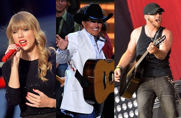 Taylor Swift, George Strait, Brantley Gilbert