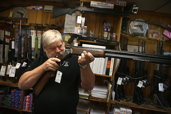 Gun sales are way up (Getty Images)