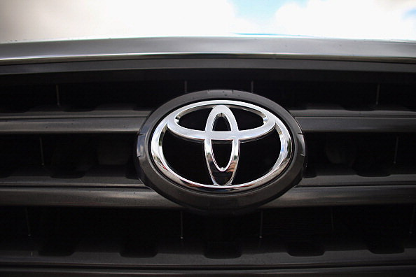 Toyota logo on a grill