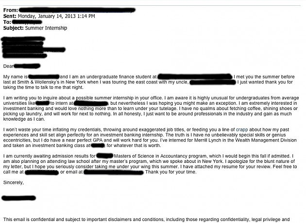 Best Cover Letter Ever? [PHOTO]