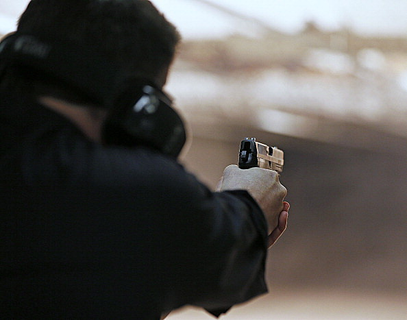 Firearms Enthusiasts Practice Shooting At Gun Range (Getty Images)