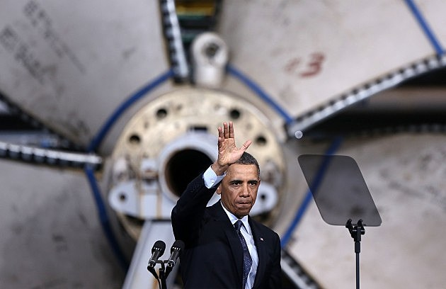 Obama Visit Shipbuilding Facility In Virginia