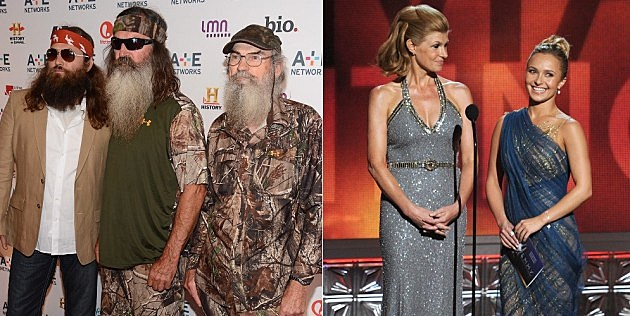 the guys from duck dynasty and the girls from Nashville