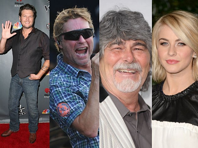 TOC 2009 Artists (Blake Shelton Craig Morgan Randy Owen Julianne Hough)