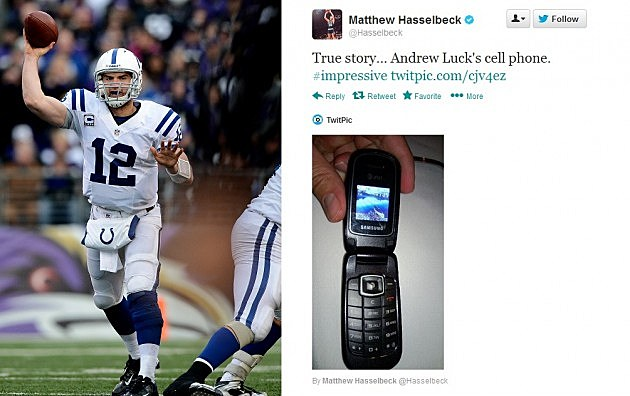 Andrew Luck and Andrew Luck's Phone