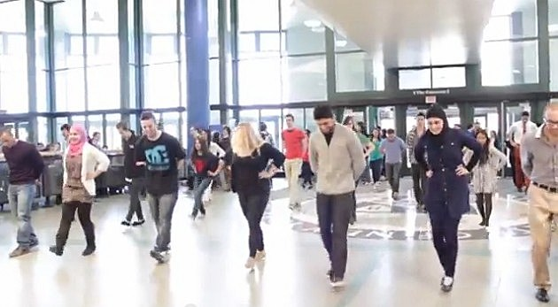 students dancing at the Student Union at UB