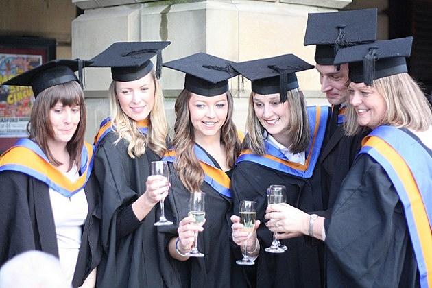 Graduates celebrating their graduation