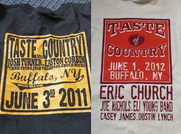 Taste Of Country t-shirts