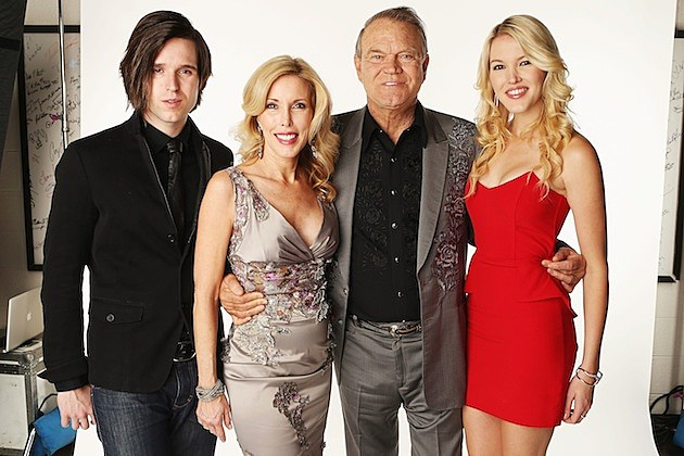 Glen Campbell and his family