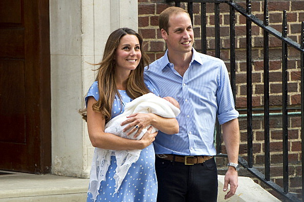 Duke And Duchess Of Cambridge Leave The Lindo Wing With Their Newborn S
