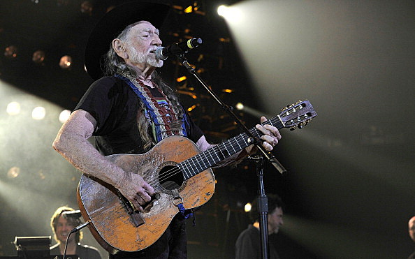 Willie Nelson celebrates another #1 (Getty)