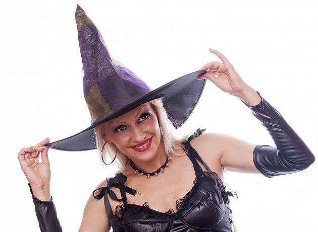 Woman dresed as a witch
