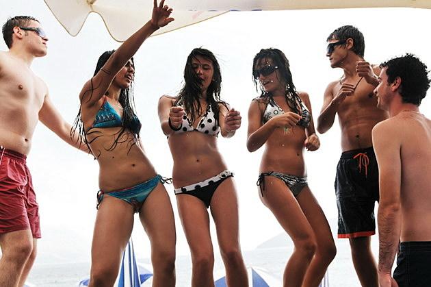wild beach party