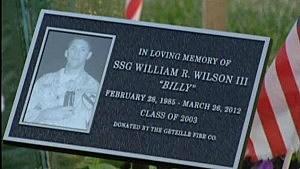 William Wilson memorial plaque
